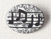 Oval Music Brooch