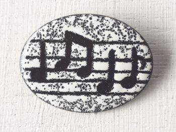 Oval Music Brooch