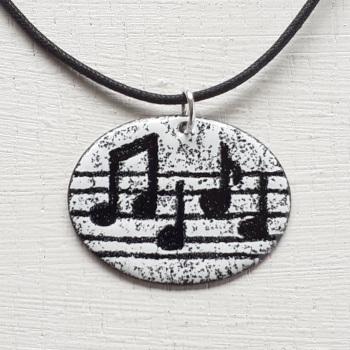 Oval Music Pendant