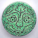 Green Man Brooch