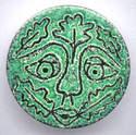 Green Man Brooch
