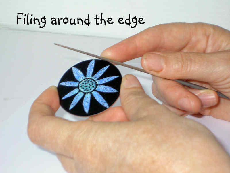 How to make an enamelled brooch 1