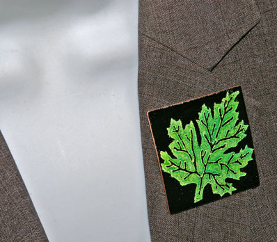 Square Leaf Brooch