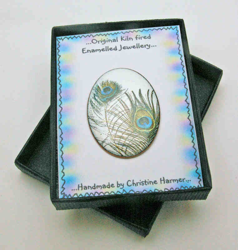Peacock Feather Brooch (Boxed)