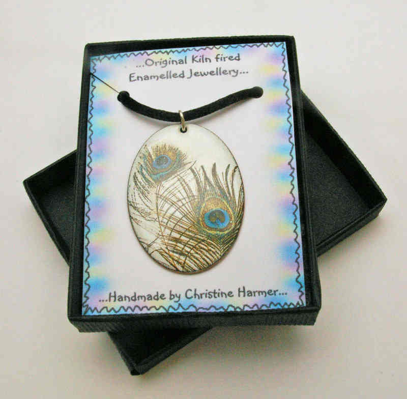Peacock Feather Pendant (Boxed)