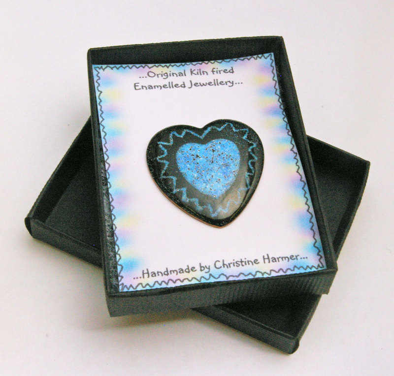 Heart Brooch Pale Blue (Boxed)