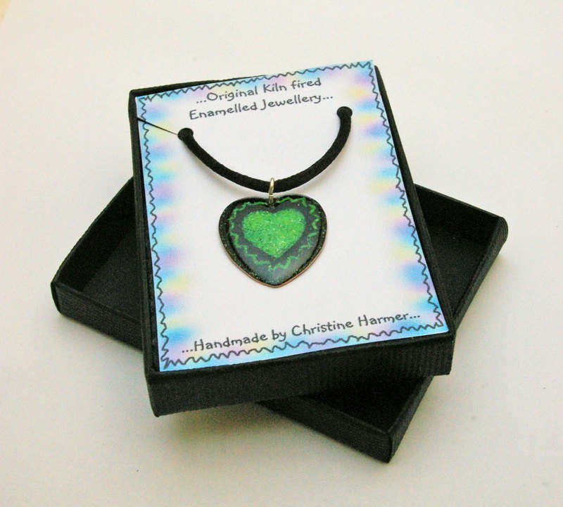 Small Heart Pendant Green (Boxed)