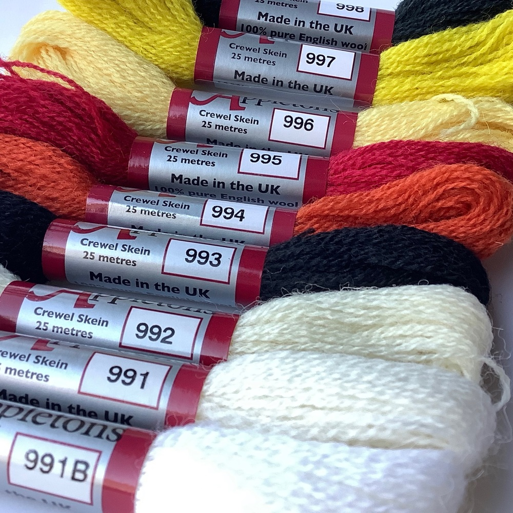 Appletons complete set of crewel wools (1 skein of each of the 421 shades)