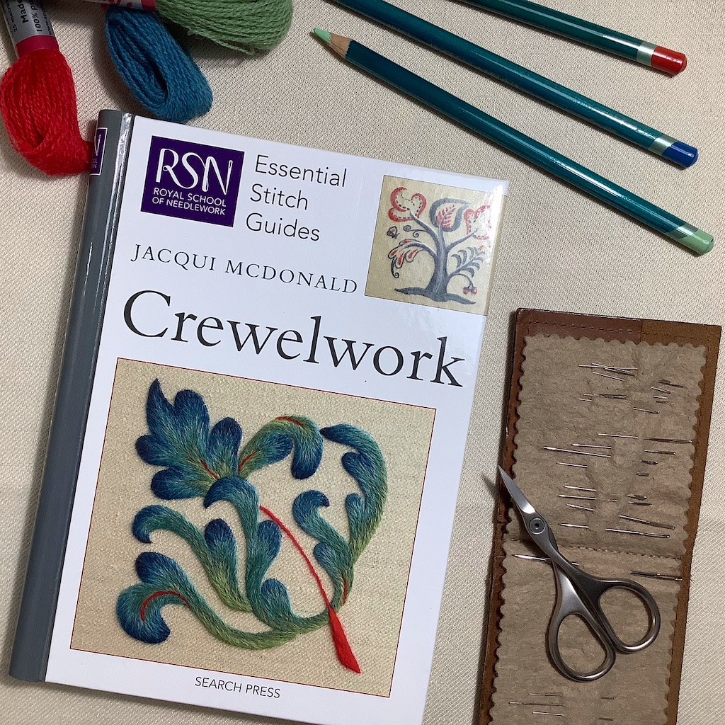 RSN Essential stitch guides - Crewelwork by Jacqui McDonald