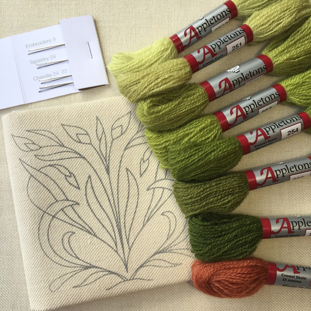 Crewelwork Play Pack Outline Bud