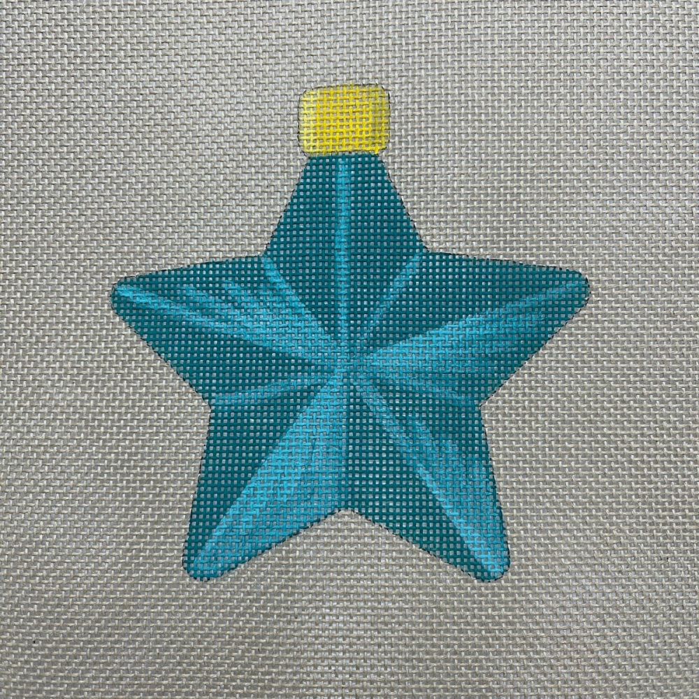 Star bauble green
