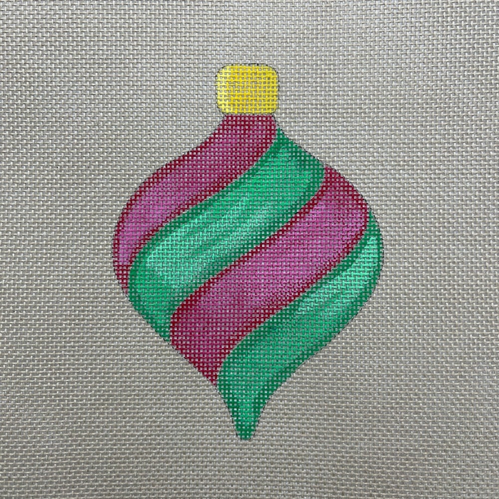 Droplet bauble pink and green