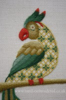 Crewelwork Parrot