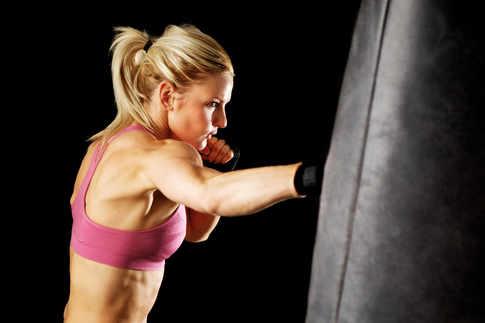 Boxing Pad Lady