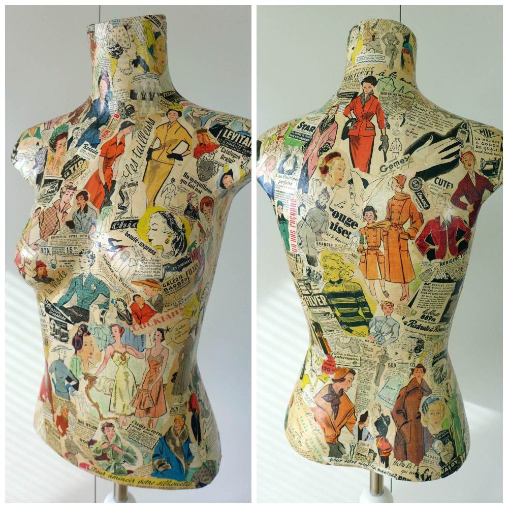fifties decoupage mannequin view
