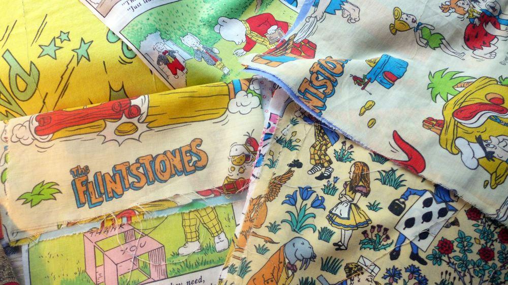 Vintage childrens fabric bundle for Vintage childrens fabric