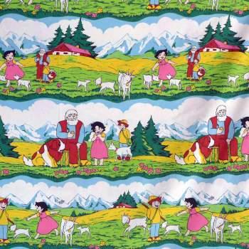 1970's Children's Fabric - Heidi - 95cm wide