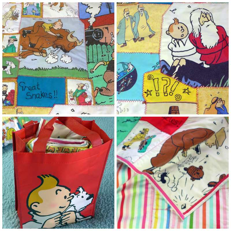 tintin quilt collage