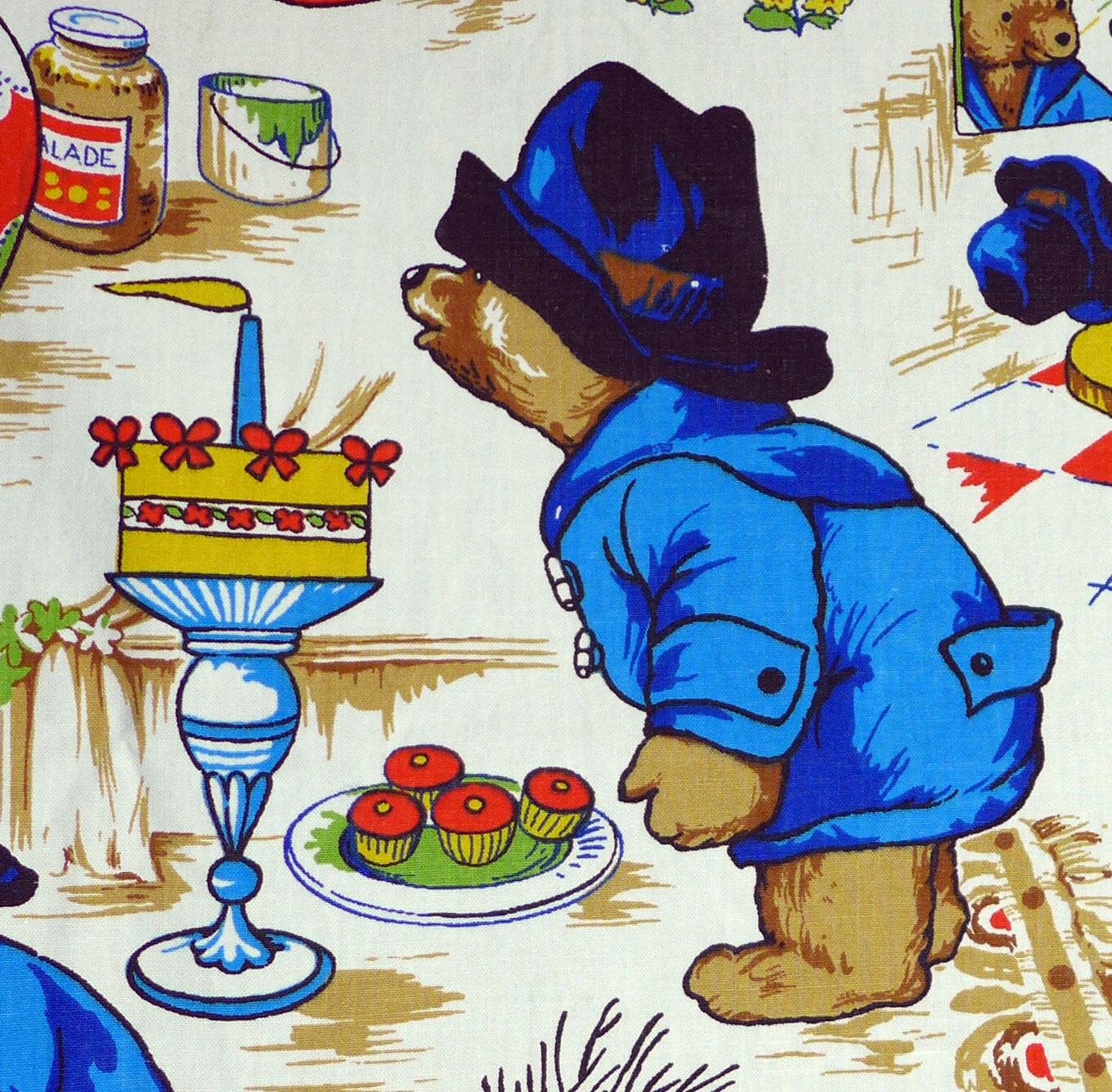 Vintage Cotton Paddington Fabric by Wardle Fabrics - 125cm x 90cm