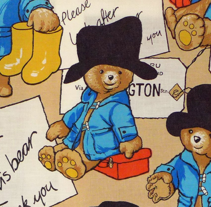 Paddington Bear Cotton Blend - Paddington's Arrival 125cm W