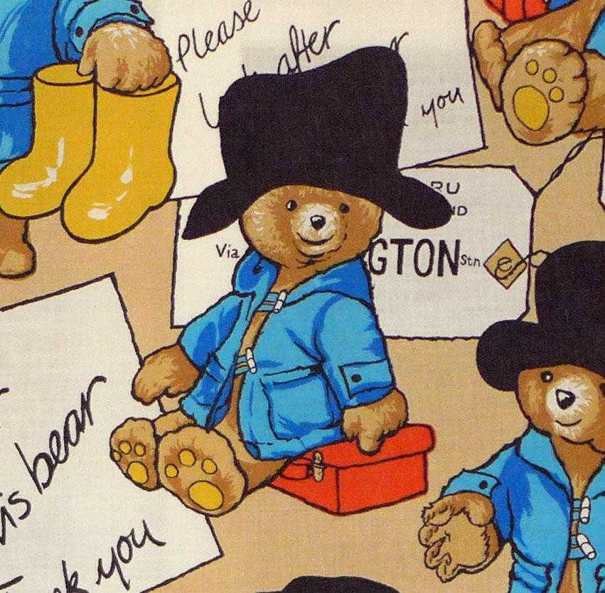 Paddington Bear Cotton Blend - Paddington's Arrival - 120cm  x 65cm