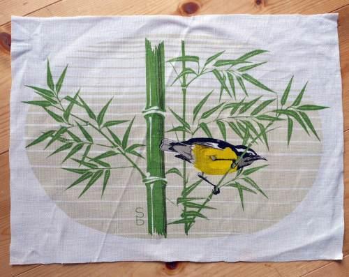 3 Bird Print Panels - 38cm x 29cm