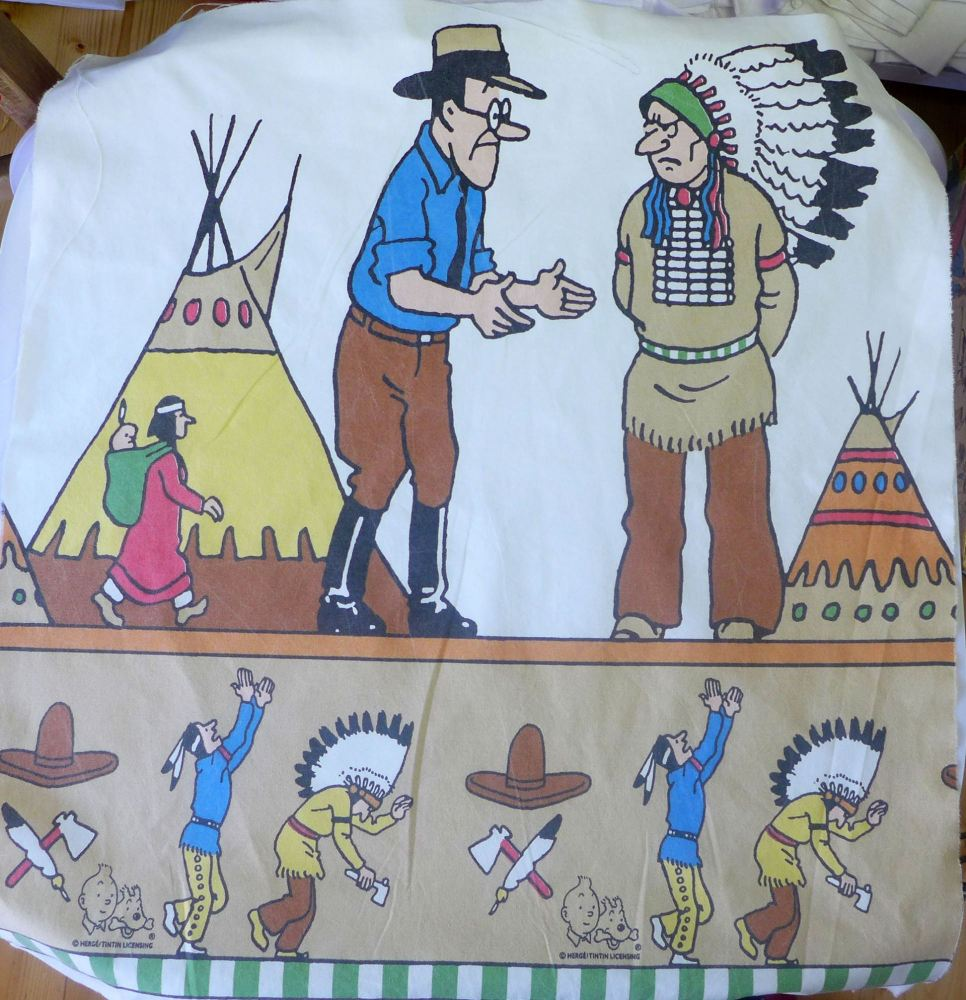 Tintin in America - Teepee - Cotton Panel