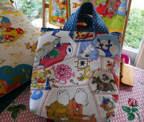 Crazy Patchwork Book Bag