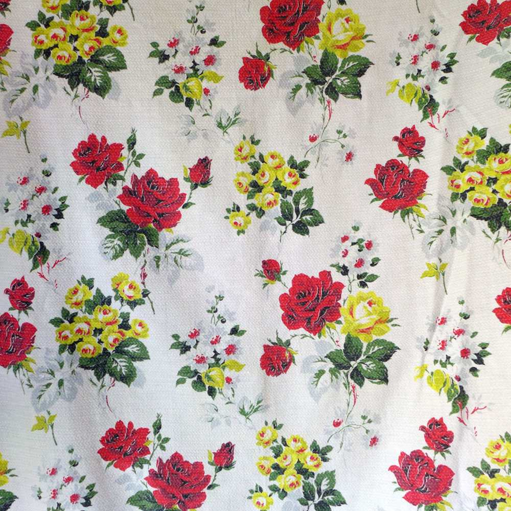 Vintage Roses Fabric - 84cm wide