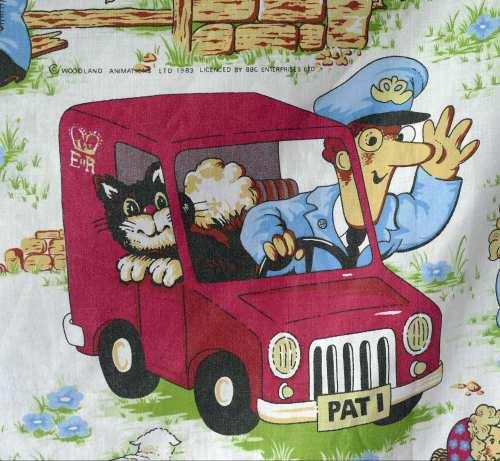 Postman Pat Cotton Blend Fabric - 130cm wide