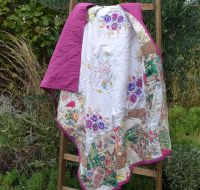 Patchwork Quilt - Vintage Embroidery & Linen