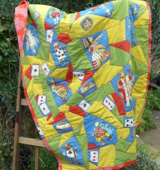 Patchwork Quilt - Aliice in Wonderland - Handmade