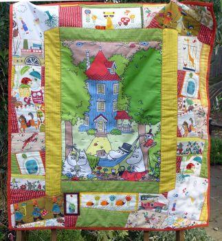 Vintage Patchwork Quilt - Moomins - Handmade