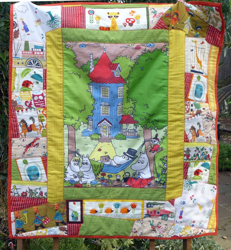 Vintage Patchwork Quilt - Moomins