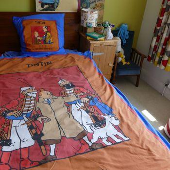 Vintage Tintin SINGLE Duvet Set & Sheet - King Ottokar's Sceptre