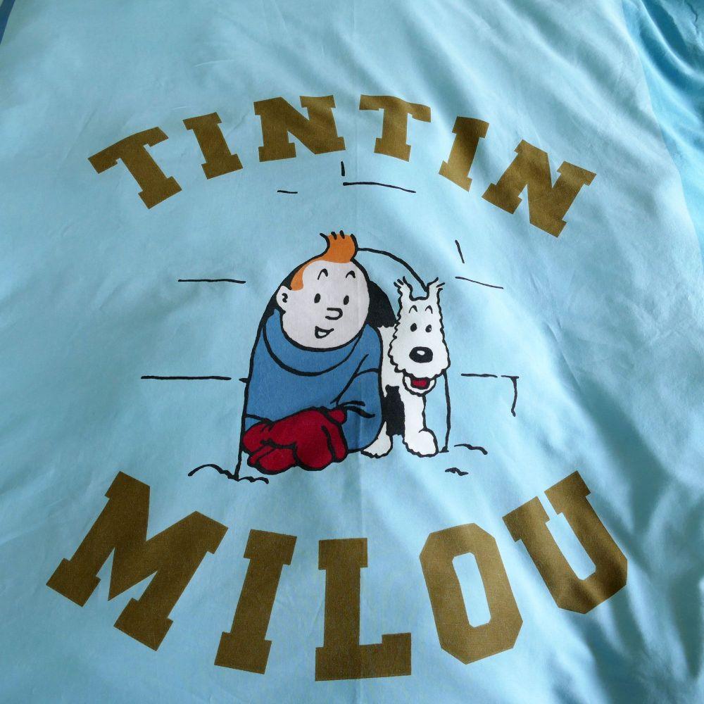 Vintage Tintin Duvet Cover - Tintin & Milou - Blue