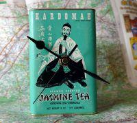 Vintage Tea Caddy Clock - Jasmine Tea
