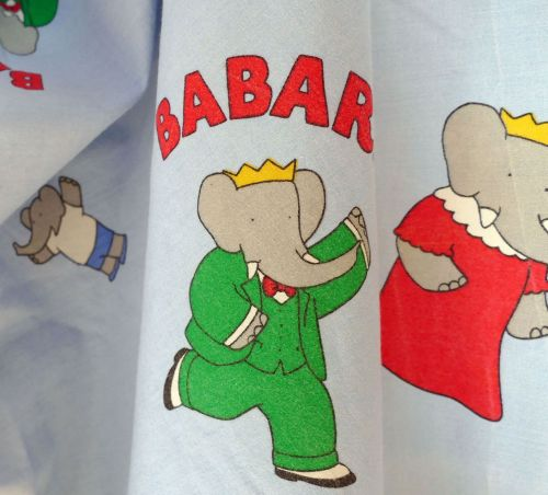 Original Vintage Babar Cotton - 120cm wide