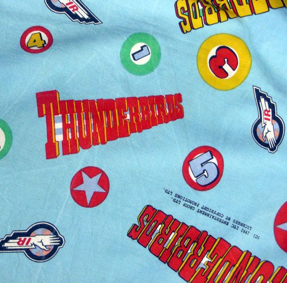 Vintage Thunderbirds Cotton Fabric - Various Sizes