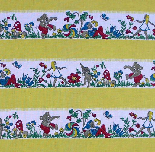 Original 1940's Children's Cotton Fabric