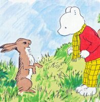 Rupert Bear Vintage Cotton Panel - Rabbit