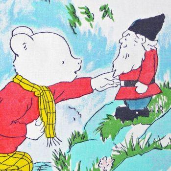 Rupert Bear Vintage Cotton Panel - Gnome