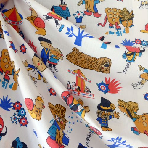 Magic Roundabout Fabric - 68cm wide
