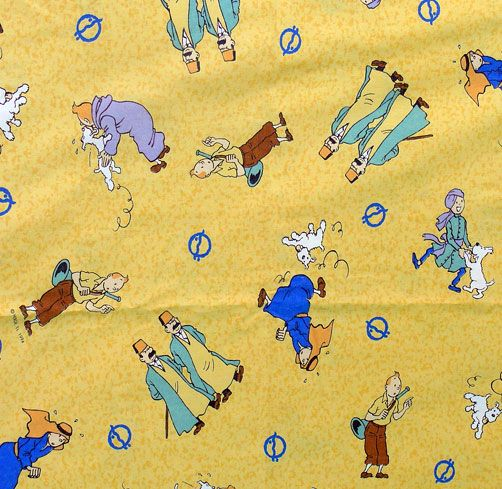 Vintage Tintin Fabric - Pharaoh - 160cm wide