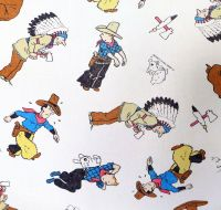 Vintage Tintin Cotton - Tintin in America - 80cm Wide
