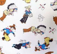Vintage Tintin Cotton - Tintin in America - 55cm x 55cm