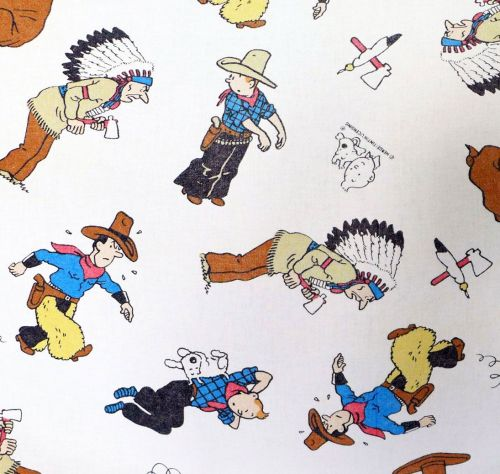 Vintage Tintin Cotton - Tintin in America - 85cm wide