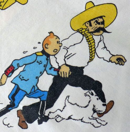 Vintage Tintin Fabric - The Broken ear (Uniform) 120cm