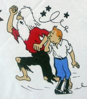 Vintage Tintin Fabric - The Broken ear (Museum)  80cm x 50cm