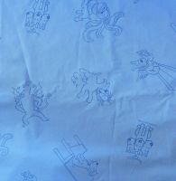 Vintage Snowy Cotton Blue - 120cm wide